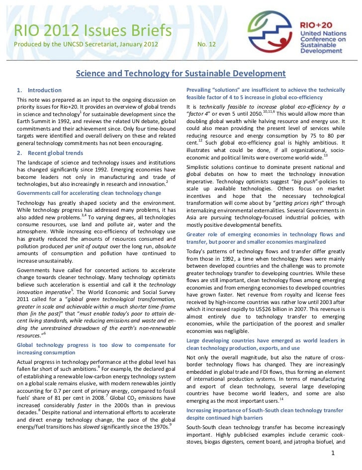 Development of Science And Technology Science And Technology For