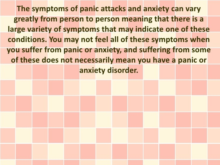 Anxiety and Panic Disorder Symptoms - Signs of Anxiety
