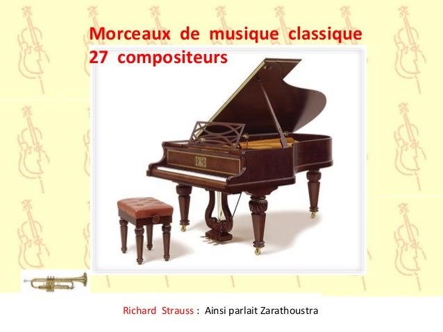 Richard Strauss : Ainsi parlait ZarathoustraMorceaux de musique classique27 compositeurs