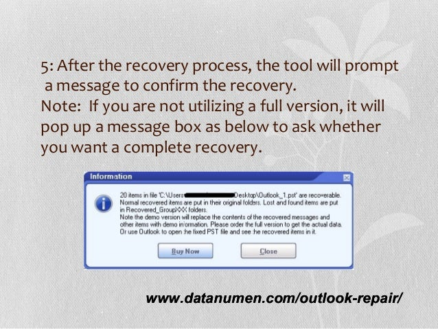 datanumen outlook repair full version