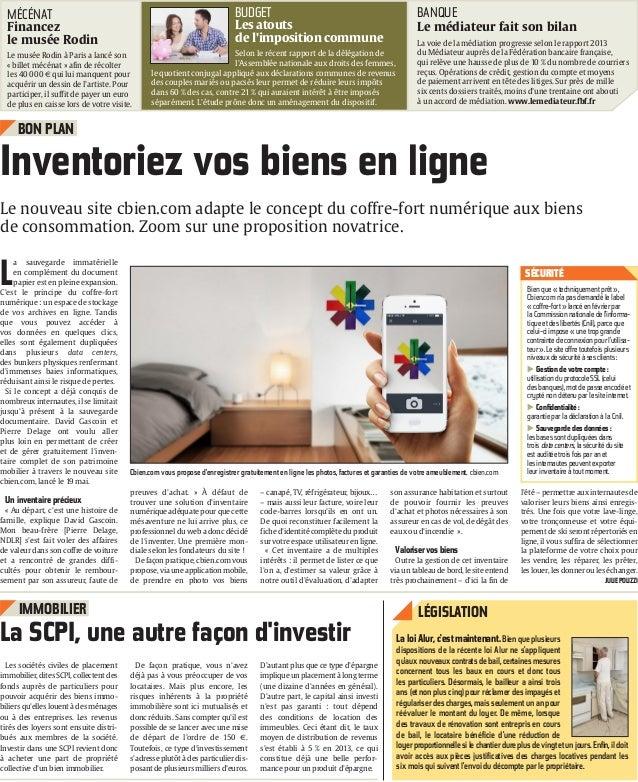 Article Presse Cbien.com - l'Union - 27 mai 2014