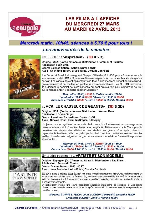 Cinéma Coupole 27 mars au_02_avril_2013