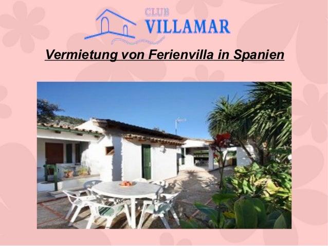Vermietung von Ferienvilla in Spanien