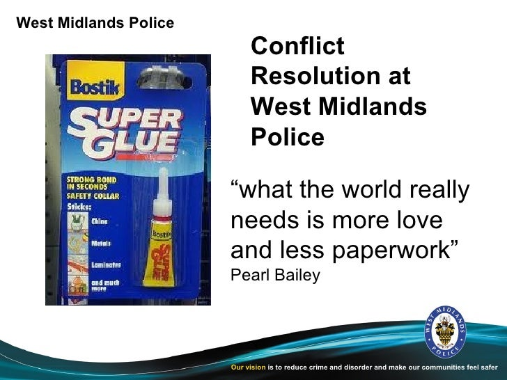 West Midlands Police                            Conflict                            Resolution at                         ...