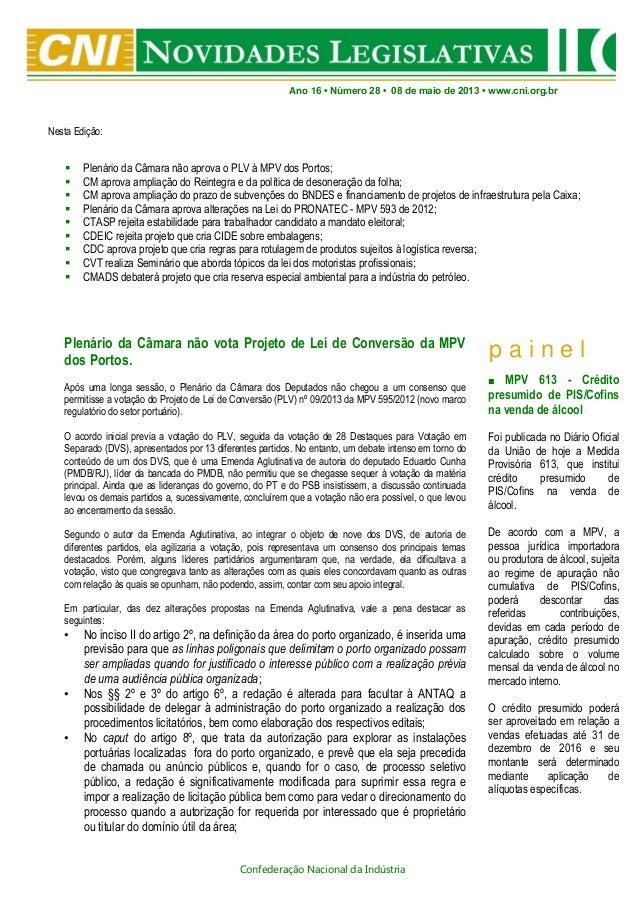 Novidades Legislativas Nº28   08/05/2013