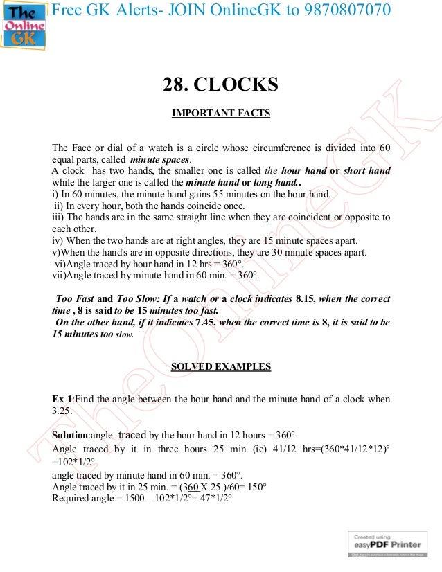 28. clocks