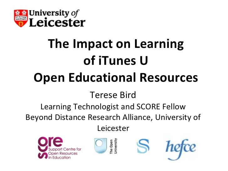 Impact on learning of iTunes U OER - Follow the Sun 14 April 2011