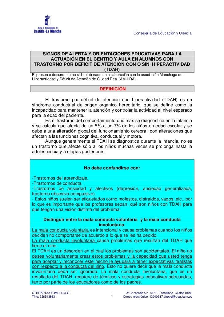 Consejería de Educación y Ciencia    SIGNOS DE ALERTA Y ORIENTACIONES EDUCATIVAS PARA LA       ACTUACIÓN EN EL CENTRO Y AU...