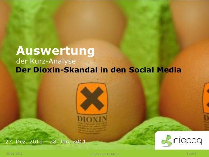 Auswertung      der Kurz-Analyse     Der Dioxin-Skandal in den Social Media27. Dez. 2010 – 28. Jan. 201128-01-2011        ...