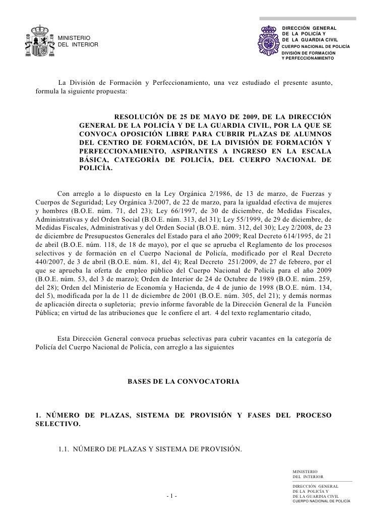 DIRECCIÓN GENERAL                                                                                  DE LA POLICÍA Y        ...