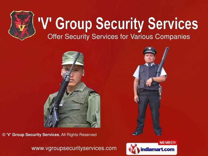 Security Guard Service by 'V' Group Security Services Chennai