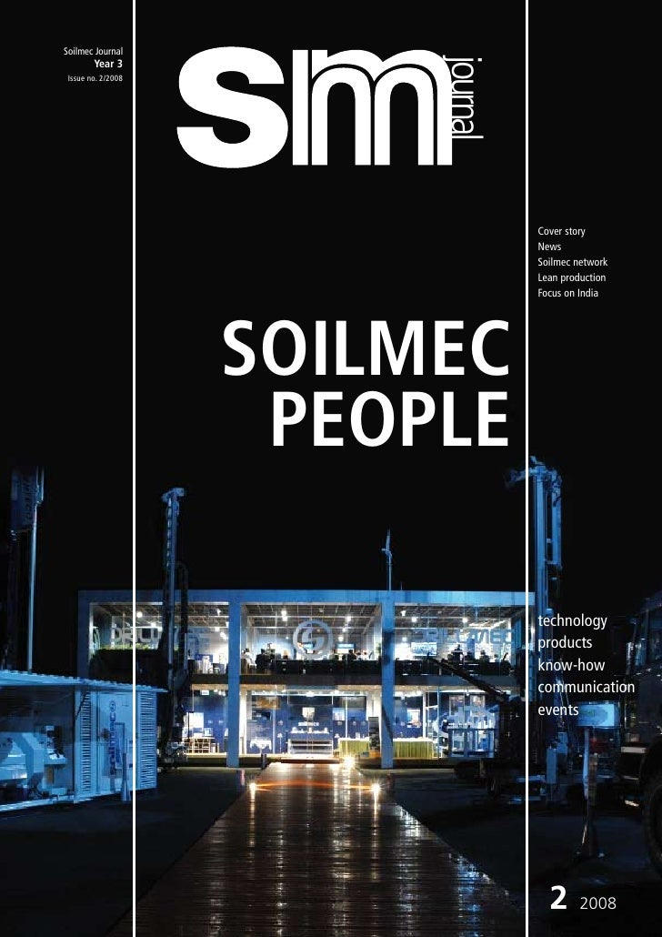 Soilmec Journal                              journal         Year 3  Issue no. 2/2008                                     ...