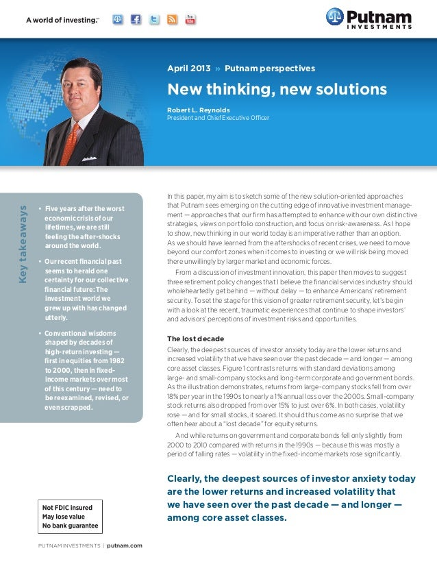 Robert L. Reynolds: New thinking, new solutions