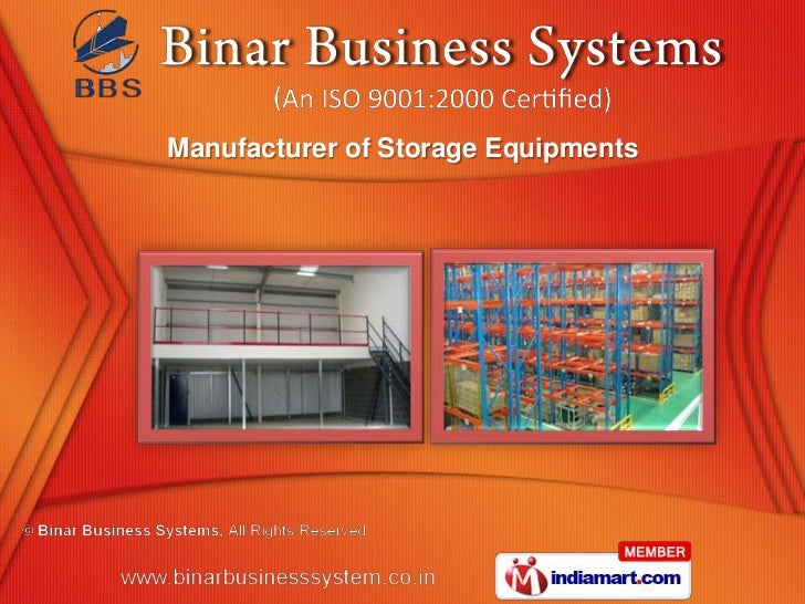 Manufacturer of Storage Equipments
