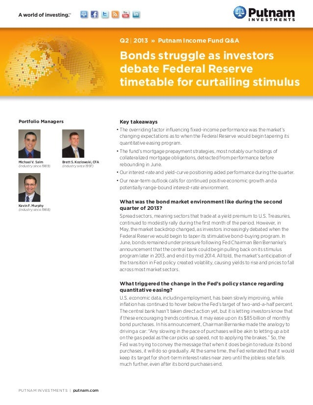 Putnam Income Fund Q&A Q2 2013