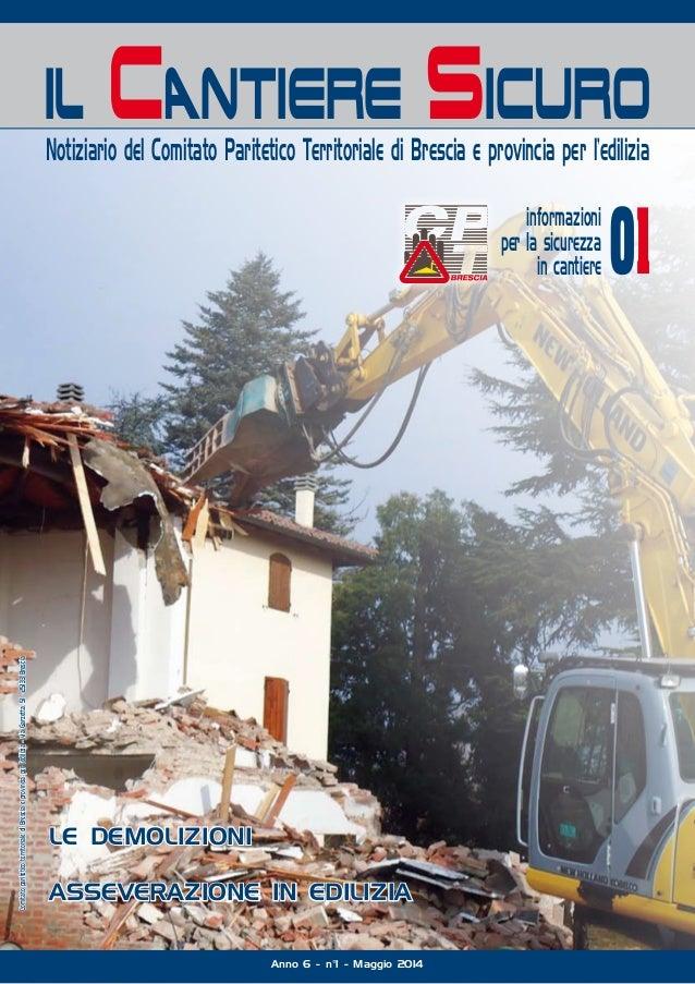 il Cantiere Sicuro Notiziario del Comitato Paritetico Territoriale di Brescia e provincia per l'edilizia Comitatoparitetic...