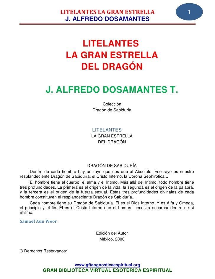 LITELANTES LA GRAN ESTRELLA                                          1                       J. ALFREDO DOSAMANTES        ...