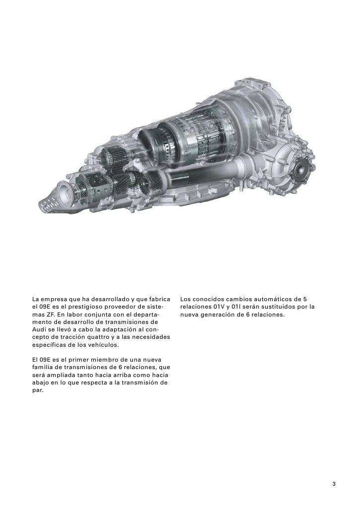 283 Cambio automatico de 6 relaciones 09E en el Audi A8