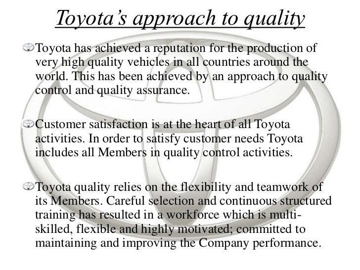 total quality management case essay Total quality management (tqm) is the process of improving and increasing the efficiency from the traditional way of doing a business (bester field, 30) the.