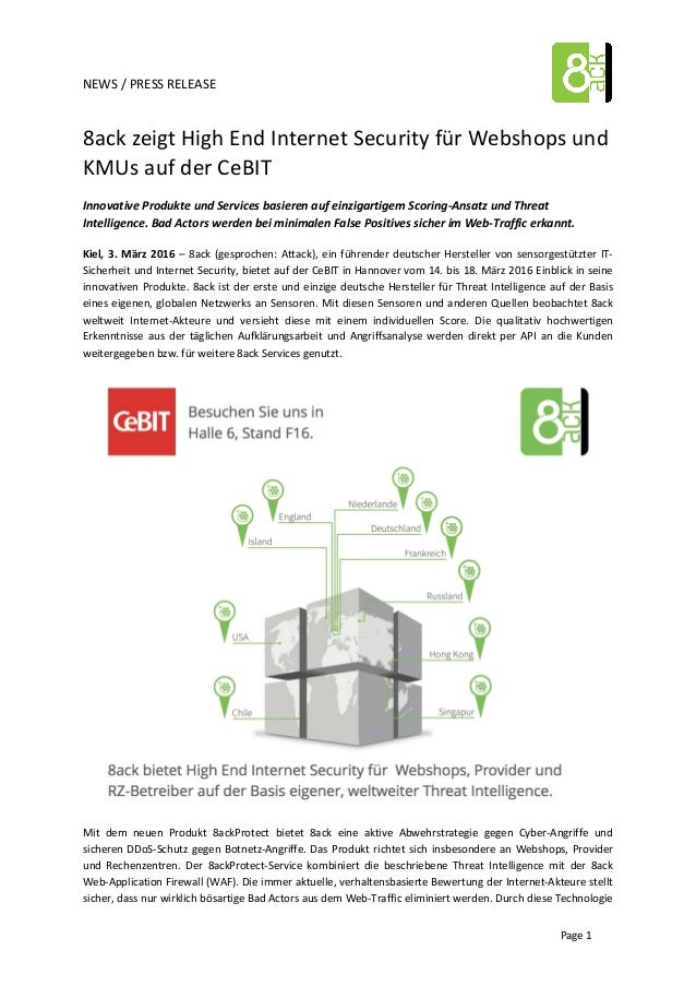 NEWS  /  PRESS  RELEASE         Page  1   8ack  zeigt  High  End  Internet  Security  f...
