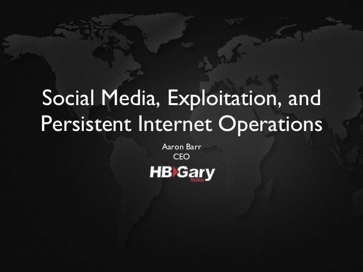 SOCIAL MEDIA BRIEF HBGARY