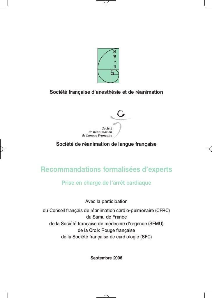 PRISE_EN_CHARGE.qxd 23/01/08 8:49 Page 1                    Société française d'anesthésie et de réanimation              ...