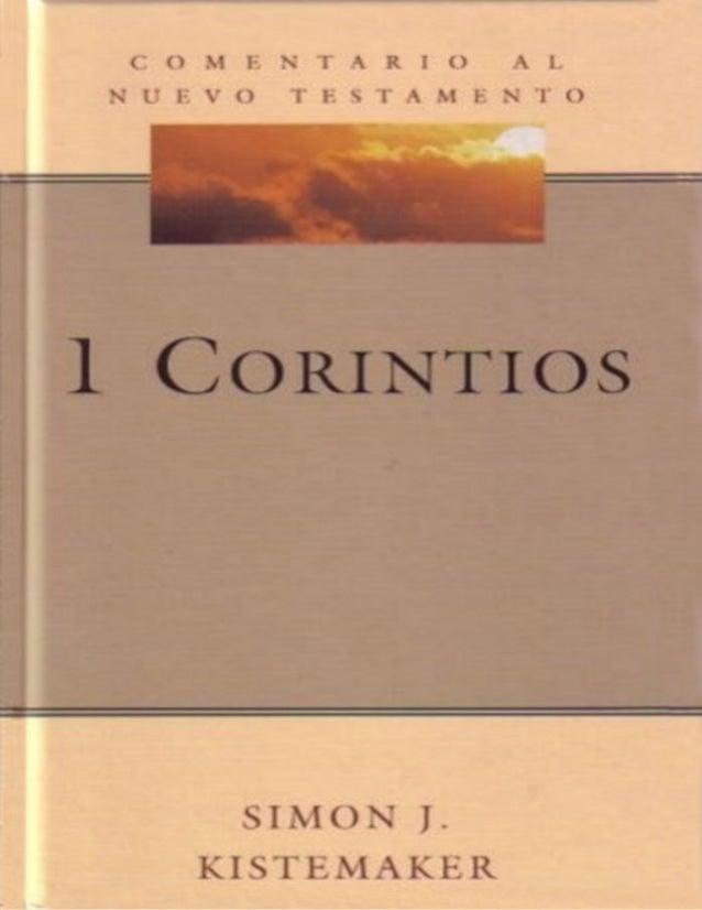 Comenatarios al Nuevo Testamento 1-corintios