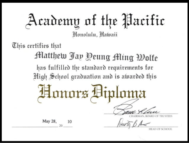 Why is it important to graduate with an honors diploma?
