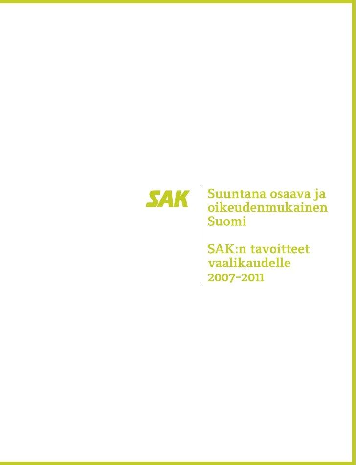 Suuntana osaava ja oikeudenmukainen Suomi
