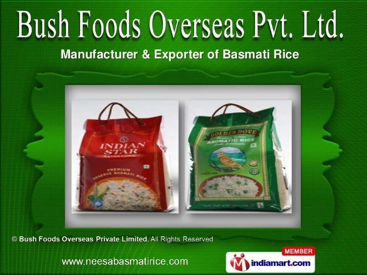 Manufacturer & Exporter of Basmati Rice