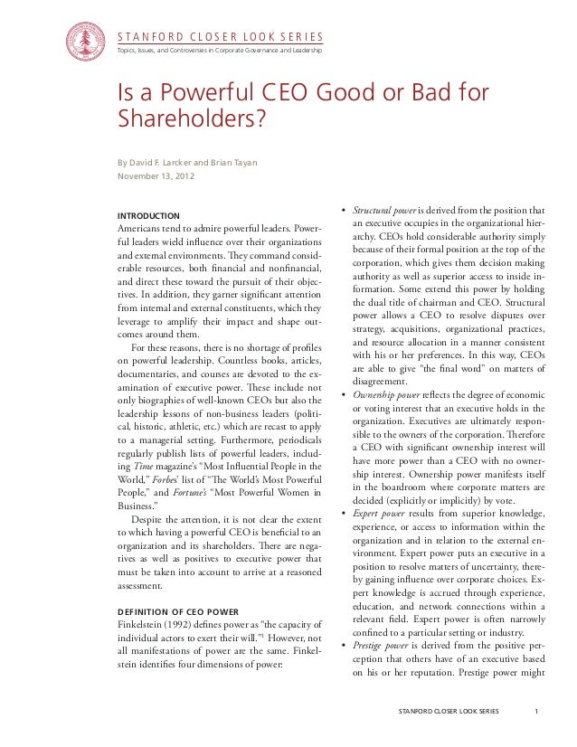 CGRP28 - Is a Powerful CEO Good or Bad for Shareholders?