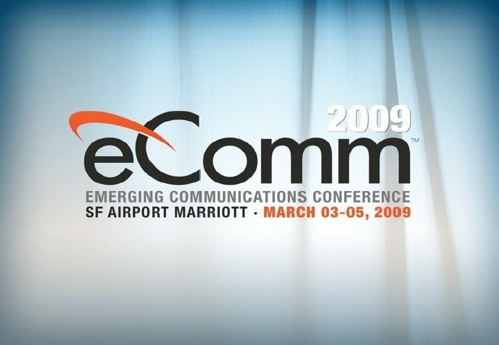 Dean Bubley's Presentation at eComm 2009