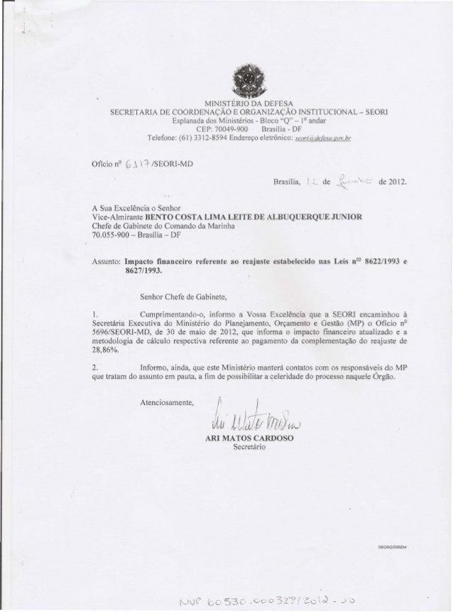 """MINISTÉRIO DA DEFESA SECRETARIA DE COORDENAÇÃO E ORGANIZAÇÃO INSTlTUCIONAL - SEORI Esplanada dos Ministérios - Bloco """"Q"""" -..."""
