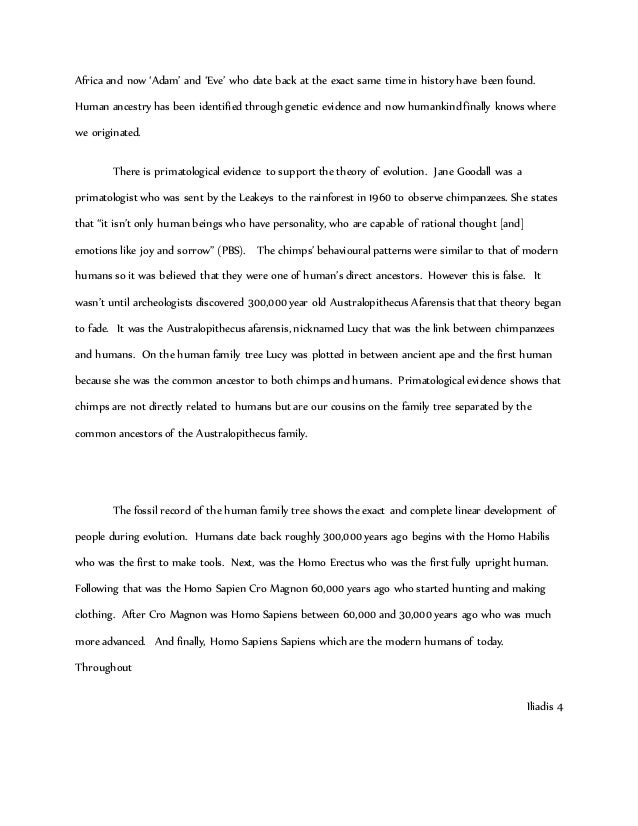 Essay on evolution
