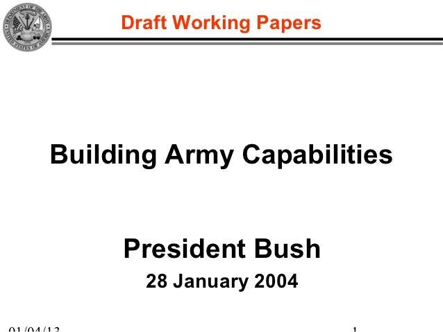28 Jan 04 Presidential Briefing: Building U.S. Army Capabilities