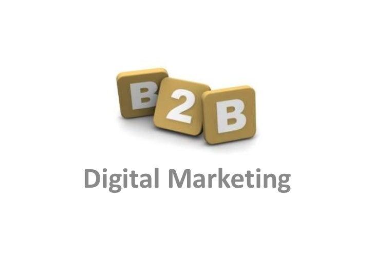 B2B Digital Marketing on Social Media