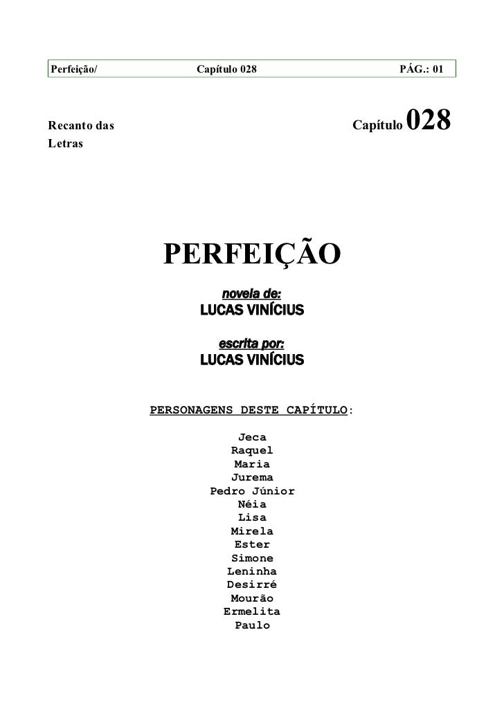 Perfeição/          Capítulo 028               PÁG.: 01Recanto das                             Capítulo   028Letras       ...