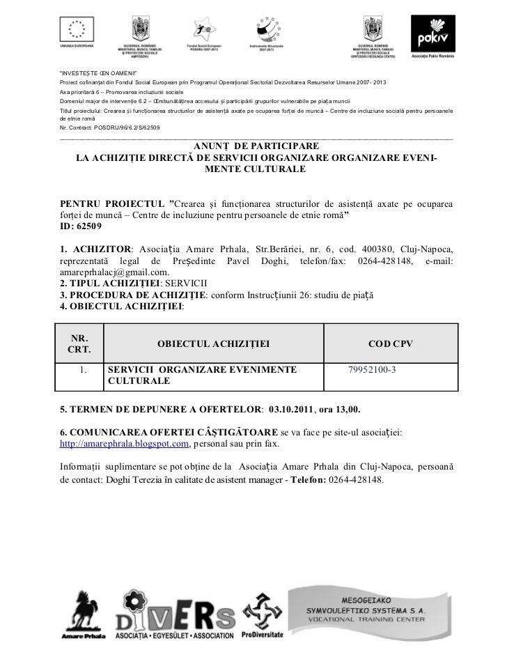 28 septembrie anunt participare servicii catering  ap