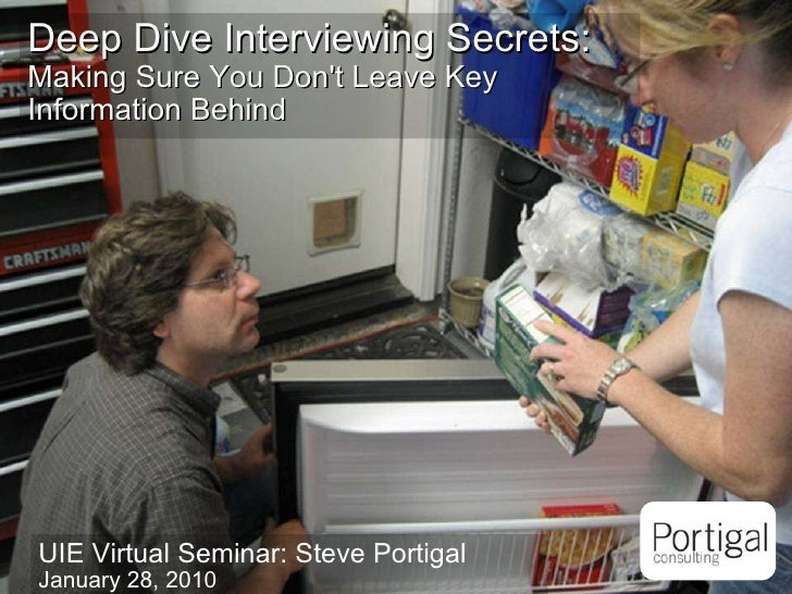 Deep Dive Interviewing Secrets
