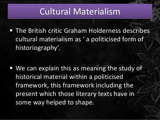 Term paper on Materialism?