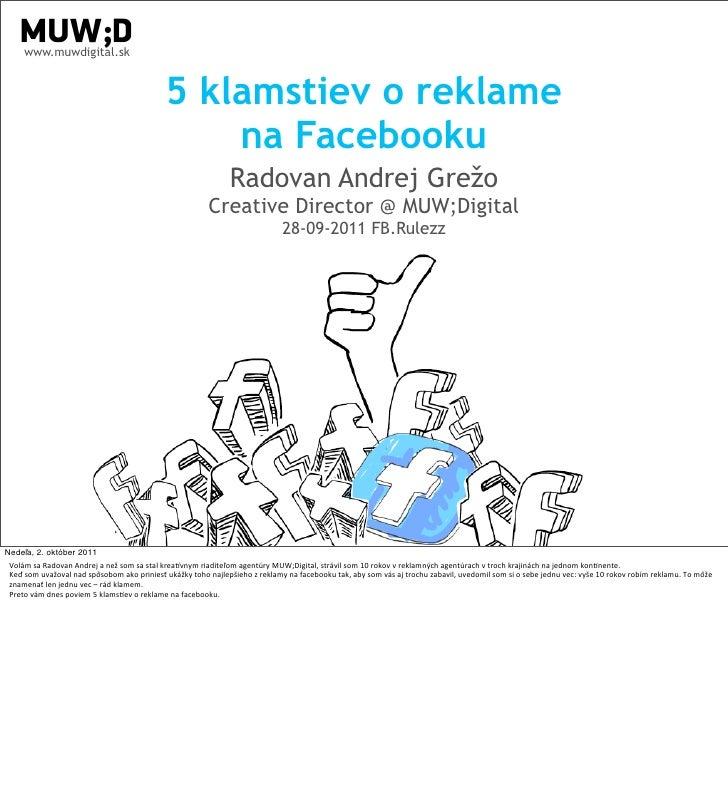 www.muwdigital.sk                                                                    5 klamstiev o reklame                ...