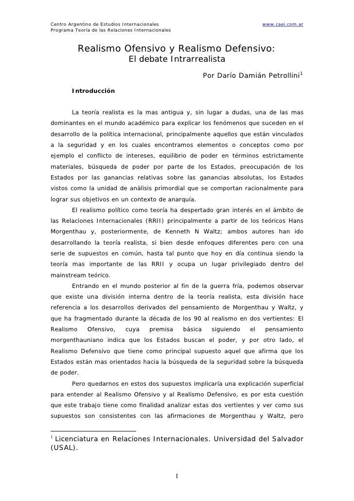 Centro Argentino de Estudios Internacionales                                        www.caei.com.arPrograma Teoría de las ...