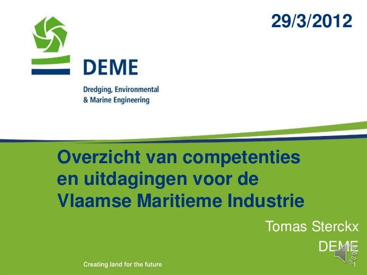 Tomas Sterckx 'Marine Science meets Maritime Industry'