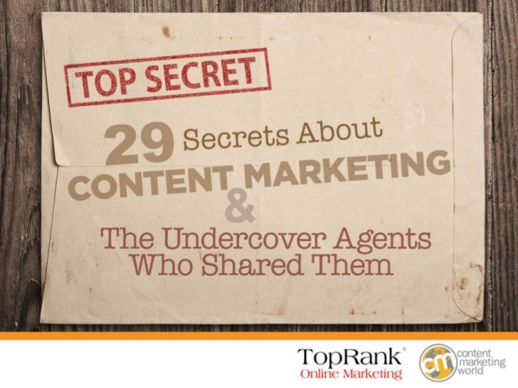 29 Content Marketing Secrets e-book