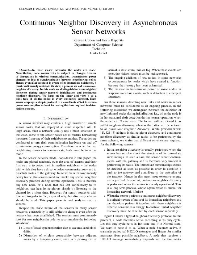 IEEE/ACM TRANSACTIONS ON NETWORKING, VOL. 19, NO. 1, FEB 2011                                                             ...
