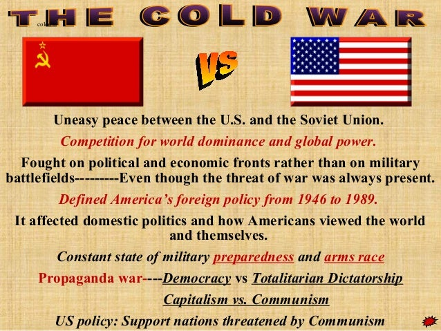 Beginning Cold War War Map/cold War Soviet