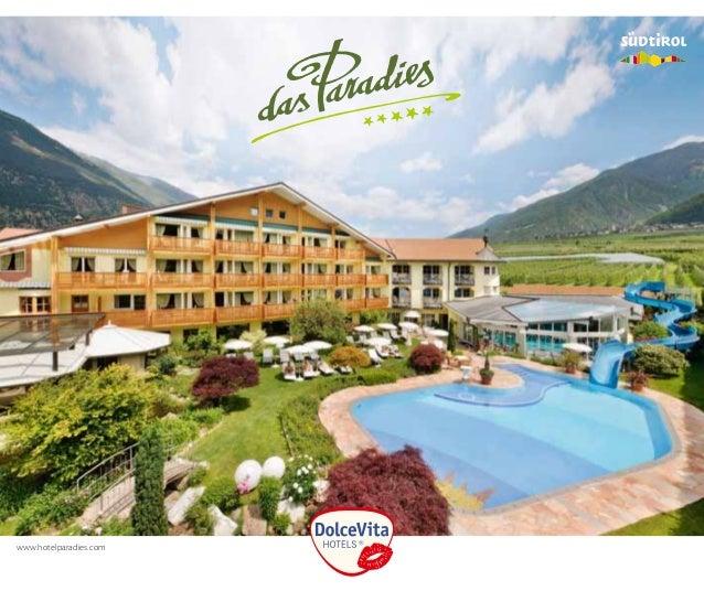 Hotel Brochure Dolce Vita Hotel Quot Das Paradies Quot Latsch