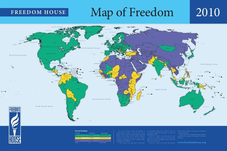 Map of Freedom 2010