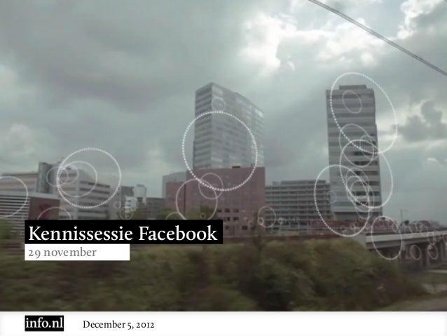 Kennissessie Facebook (29 november 2012)