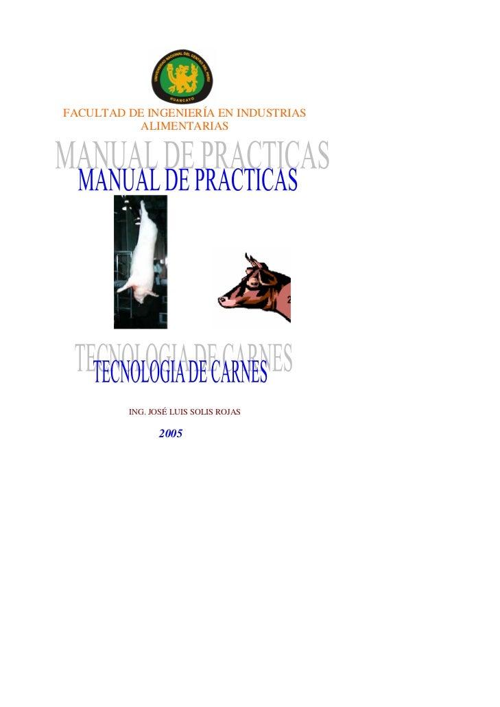 FACULTAD DE INGENIERÍA EN INDUSTRIAS           ALIMENTARIAS         ING. JOSÉ LUIS SOLIS ROJAS                2005